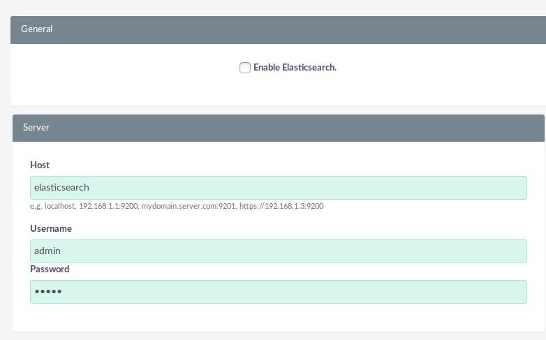Set up Elasticsearch integration :: Docs