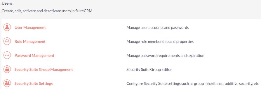 Users Admin Panel