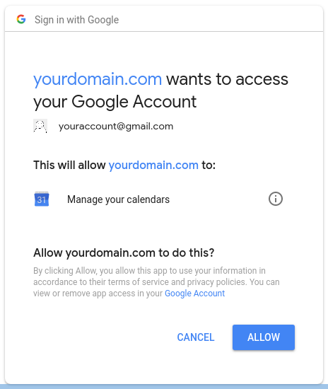 Google Credentials and Syncing :: Docs
