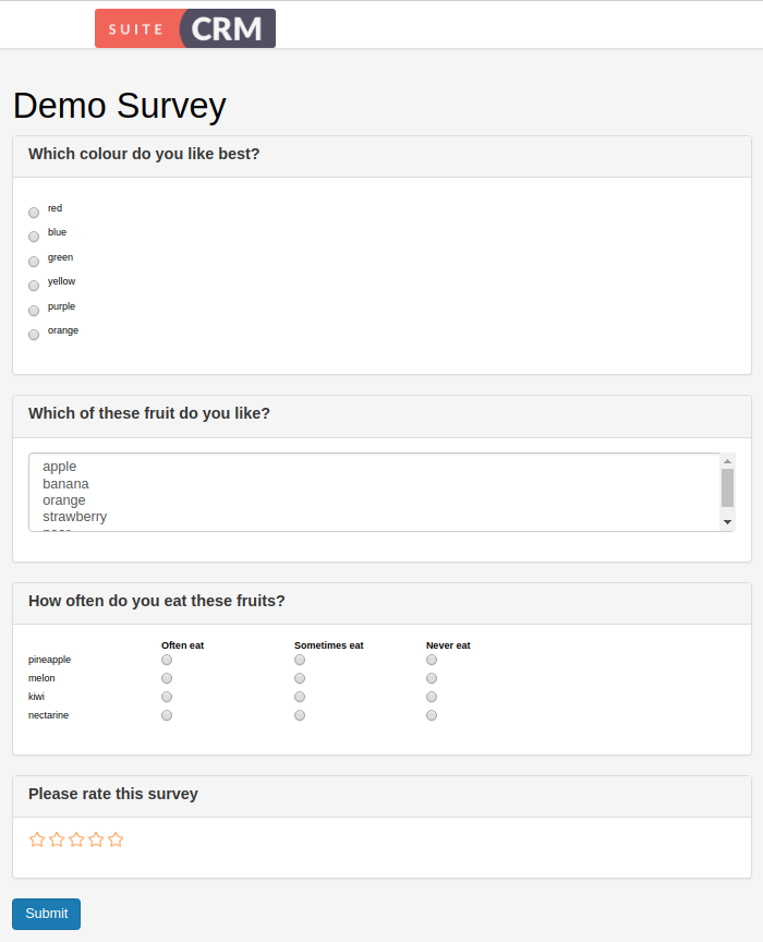 SurveysDemo