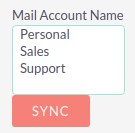 Select accounts to sync